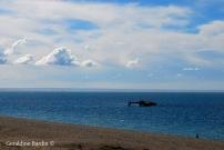 Naufragio del barco Folias a orillas del Golfo Nuevo