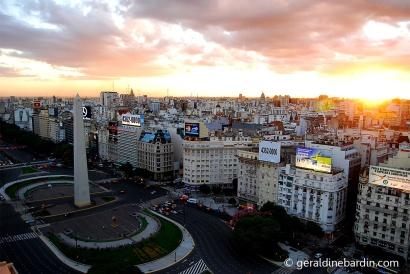 Av 9 de Julio y Obelisco, Buenos Aires