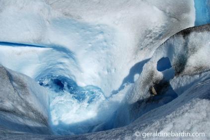 un Sumidero en Glaciar Perito Moreno